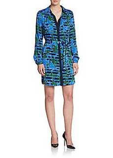 Diane von Furstenberg Polly Silk-Jersey Shirtdress