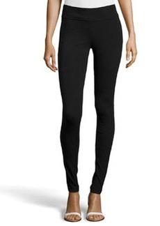 Diane von Furstenberg Ponte Legging Pants, Black