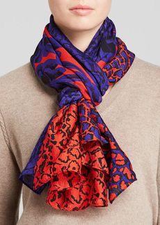 DIANE von FURSTENBERG Poppy Leopard New Boomerang Silk Scarf