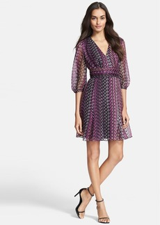 Diane von Furstenberg Print Silk Blend A-Line Dress