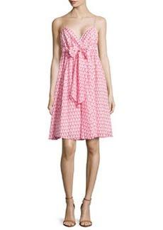 Diane von Furstenberg Printed Bow-Front Dress