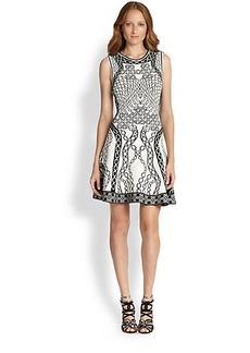 Diane von Furstenberg Printed Knit Fit-&-Flare Dress