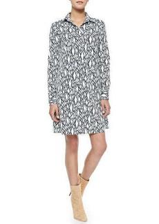 Diane von Furstenberg Printed Long-Sleeve Shirtdress