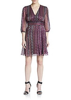 Diane von Furstenberg Printed Semi-Sheer Dress