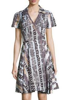 Diane von Furstenberg Printed Short-Sleeve Woven Dress