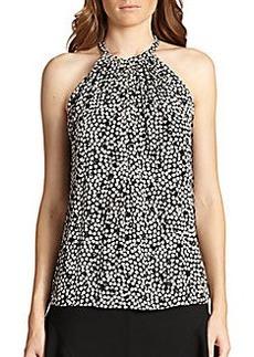 Diane von Furstenberg Printed Silk Halter Top