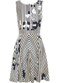 Diane von Furstenberg Printed wool and silk-blend mini dress