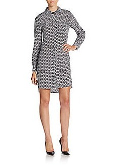 Diane von Furstenberg Prita Abstract-Print Silk Shirtdress