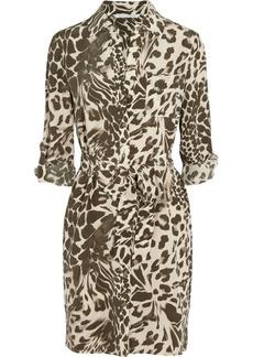 Diane von Furstenberg Prita animal-print washed-silk shirt dress
