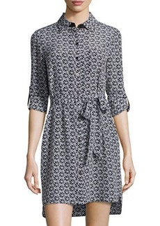 Diane von Furstenberg Prita Floral-Lace Silk Shirtdress