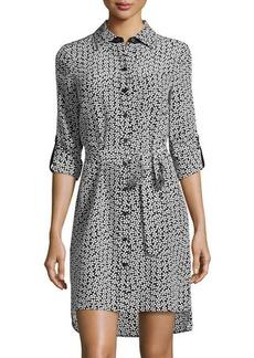 Diane von Furstenberg Prita Floral Silk Shirtdress