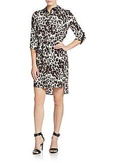 Diane von Furstenberg Prita Leopard-Print Silk Shirtdress