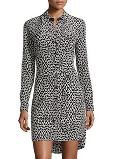 Diane von Furstenberg Prita Silk Lacy-Floral Shirtdress