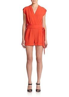 Diane von Furstenberg Purdette Crepe Short Jumpsuit
