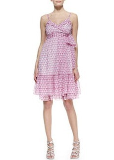 Diane von Furstenberg Queenie Sleeveless Printed Chiffon Dress
