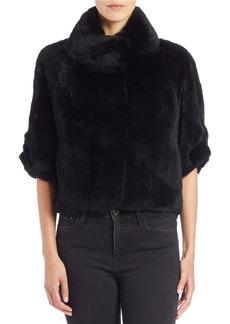 DIANE VON FURSTENBERG Rabbit Fur Jacket
