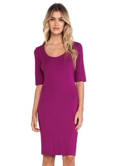 Diane von Furstenberg Raquel Scoop Neck Dress in Fuchsia