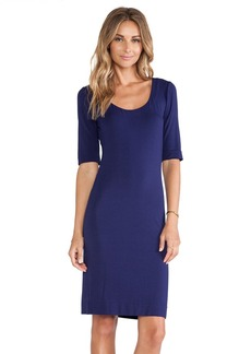 Diane von Furstenberg Raquel Scoop Neck Dress in Purple