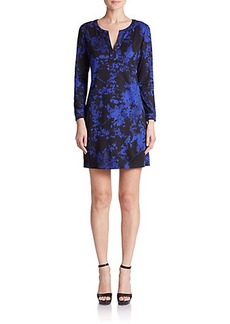 Diane von Furstenberg Raye Printed Silk Dress