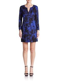 Diane von Furstenberg Raye Printed Silk Dress