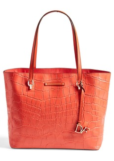 Diane von Furstenberg 'Ready to Go' Croc Embossed Shopper