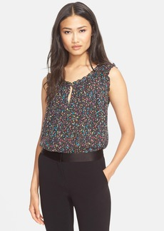 Diane von Furstenberg 'Rebekah' Print Sleeveless Top