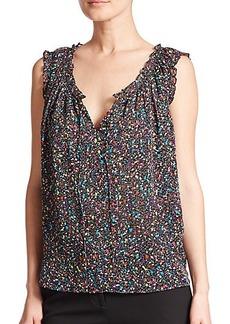 Diane von Furstenberg Rebekah Printed Silk Top