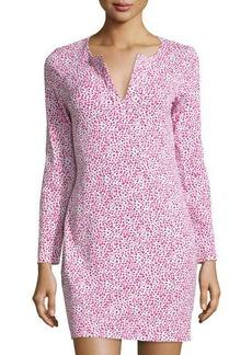 Diane von Furstenberg Reina Long-Sleeve Jersey Shift Dress