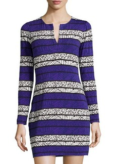Diane von Furstenberg Reina Long-Sleeve Printed Dress