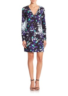 Diane von Furstenberg Reina Long-Sleeve Printed-Silk Dress