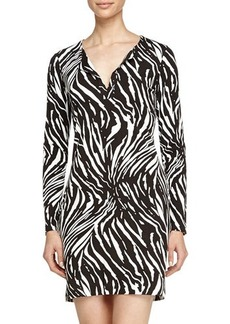 Diane von Furstenberg Reina Tiger-Shadow Caftan Dress