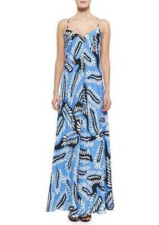 Diane von Furstenberg Riviera Bud-Print Maxi Dress