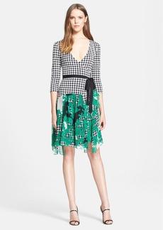 Diane von Furstenberg 'Riviera' Gingham Print Silk Wrap Dress