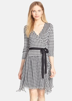 Diane von Furstenberg 'Riviera' Gingham Print Silk Wrap Dress