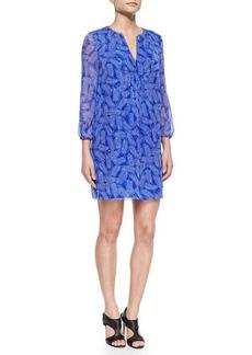 Diane von Furstenberg Riviera Printed Silk Shift Dress