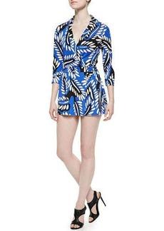 Diane von Furstenberg Riviera Printed Skort Jumpsuit  Riviera Printed Skort Jumpsuit