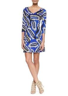 Diane von Furstenberg Riviera Three-Quarter-Sleeve Dress