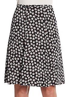 Diane von Furstenberg Rosalita Floral-Print A-Line Skirt