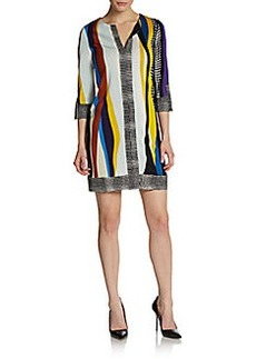 Diane von Furstenberg Rose Printed Shift Dress