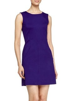 Diane von Furstenberg Round-Neck Mini-Dress, Chrome Purple