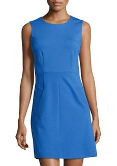 Diane von Furstenberg Round-Neck Mini-Dress, Iris