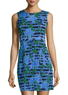 Diane von Furstenberg Round-Neck Mini-Dress, Lily Crossing Blue