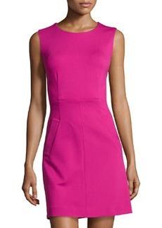 Diane von Furstenberg Round-Neck Mini Dress, Pink Dhalia