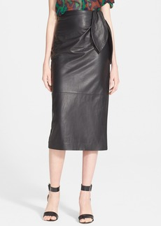 Diane von Furstenberg 'Roxanne' Leather Combo Skirt (Nordstrom Exclusive)