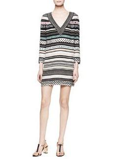 Diane von Furstenberg Ruby Long-Sleeve Banded Dot Dress