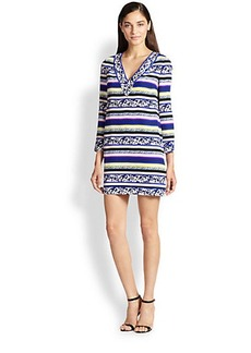 Diane von Furstenberg Ruby Striped Silk Dress