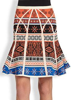 Diane von Furstenberg Samara Fit-&-Flare Knit  Skirt