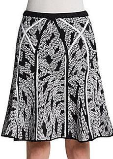Diane von Furstenberg Samara Panther Lace Knit Skirt