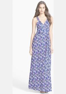 Diane von Furstenberg 'Samson' Print Silk Wrap Maxi Dress