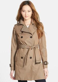 Diane von Furstenberg 'Sandrine' Pleat Back Trench Coat